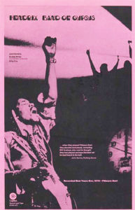 Band of Gypsys promotional poster single-color printing on uncoated paper stock.