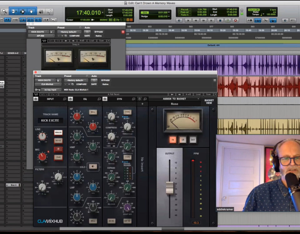 Eddie Kramer mixing a track.