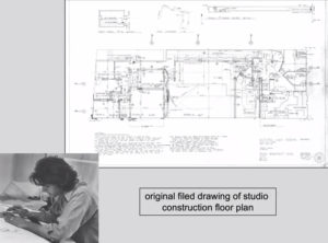 Young John Storyk labors over the complicated design of Electric Lady Studios.