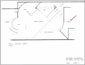 John Storyk's original design for Hendrix and Jeffery's planned nightclub/recording facility.