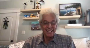 John Storyk leading today's webinar from his home in North Carolina.