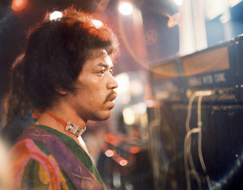 Jimi at Isle of Wight; photo by Charles Everest