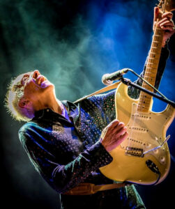 Robin Trower photographed in London by Laurence Harvey