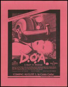 San Francisco Screening of D.O.A.