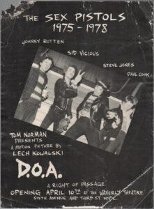 D.O.A. Waverly Theatre Premier April 10 1981