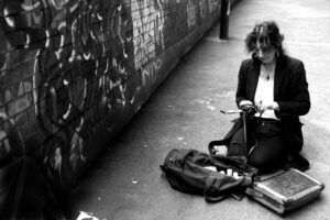 Pennie Smith at work in the streets...