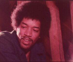 Jimi Hendrix as seen in Rainbow Bridge