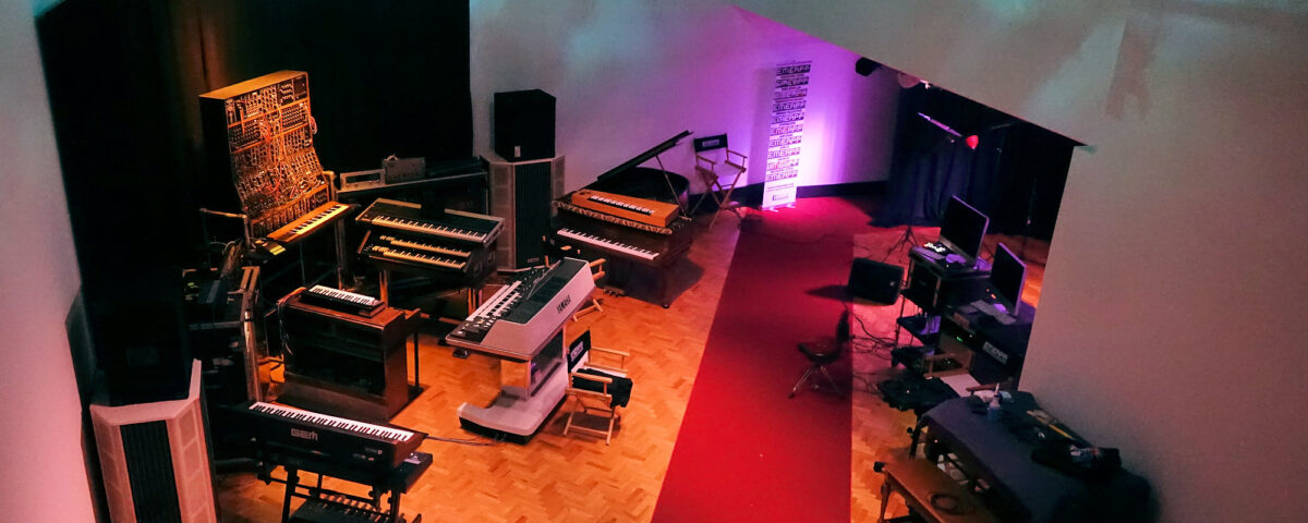 EMEAPP studio with Keith Emerson array